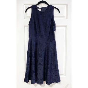 Donna Morgan Lace Knit A-Line Cocktail Dress